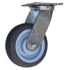 "6"" Square Tread Swivel Casters"